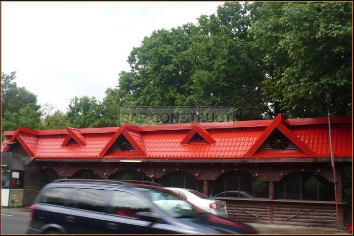 Tigla rosie acoperis pensiune restaurant